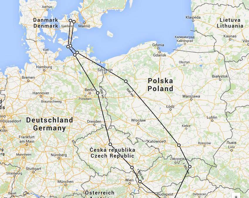 Sommertur med ultralet i Europa 2015